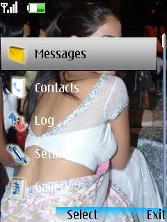 Genelia In Saree Theme Mobile Theme