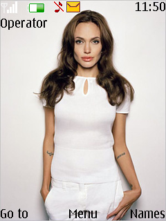 Angelina Jolie Theme Mobile Theme