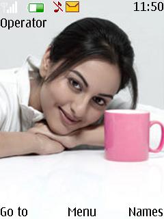 Sonakshi Sinha Dabangg Theme Mobile Theme