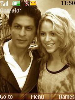 Shahrukh And Shakira Theme Mobile Theme