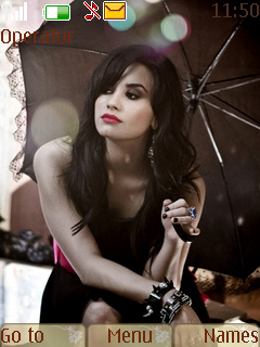 Demi Lovato Mobile Theme