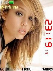 Clock Jessica Alba Mobile Theme