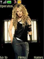 Hilary Duff Mobile Theme