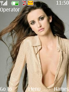 Penelope Cruz Mobile Theme