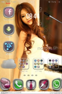 Beautiful Chines Girl Apple IPhone Theme Mobile Theme