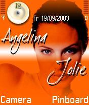 Angelina Jolie Mobile Theme