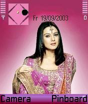 Preity Zinta Mobile Theme