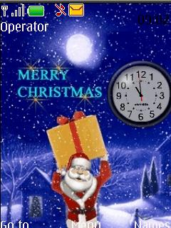 Santa Clock Mobile Theme