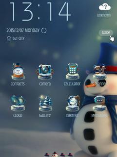 Snowman Mobile Theme