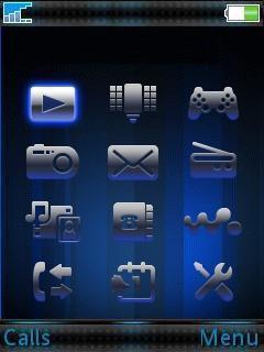 Cool Blue Mobile Theme