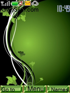 Green Flowers Mobile Theme