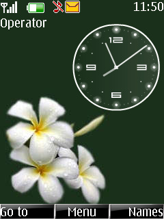 Flower Clock Mobile Theme