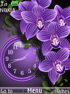 Purple Flowers Mobile Theme