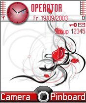 Red Roses Mobile Theme
