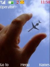 Hand And Air Plane Nokia Theme Mobile Theme