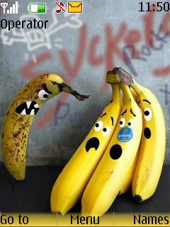 Crazy Banana Theme Mobile Theme