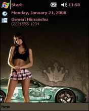 Need For Speed ProStreet Htc Theme Mobile Theme