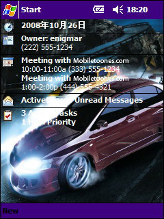 Nfs Carbon Htc Theme Mobile Theme