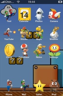 Super Mario Theme Mobile Theme
