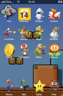 Super Mario Theme Mobile Theme