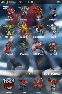 Transformer Theme Mobile Theme