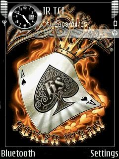 Animated Poker Ace Theme Mobile Theme