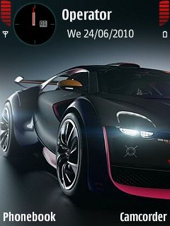 Black Nfs Car  Mobile Theme