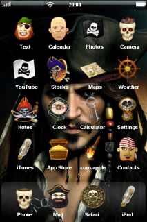 Pirates Of THe Caribbean Mobile Theme