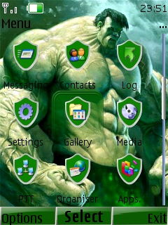 Hulk With Tone Mobile Theme