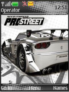 Nfs Pro Street Mobile Theme