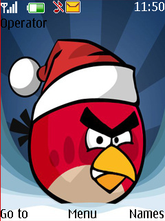 Christmas Angry Bird Mobile Theme