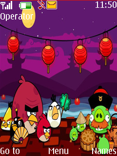 Angry Bird Chine Mobile Theme