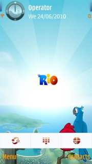 Angry Birds Rio Mobile Theme