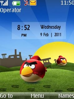 Angry Birds Clock Mobile Theme