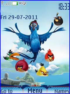 Angry Bird Rio Mobile Theme