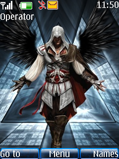 Ezio With Dark Wings Mobile Theme