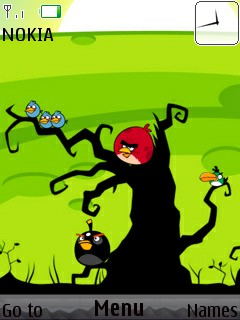 Tree Angry Bird Mobile Theme