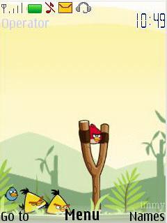 Angry Bird Animated Mobile Theme