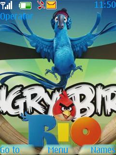 Angry Birds Rio Mobile Theme