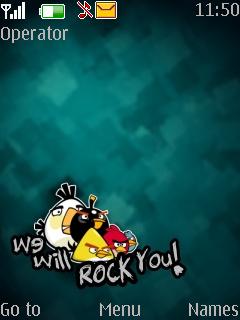 Angry Bird Mobile Theme