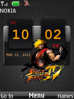 Street Fighter Clock Mobile Theme