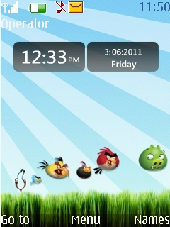 Angry Bird Clock Mobile Theme