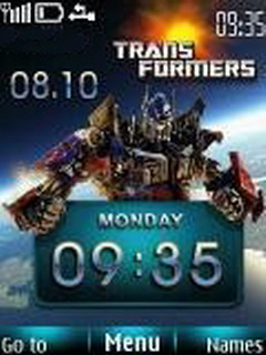 Transformer Clock Mobile Theme