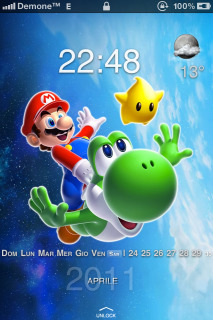 Super Mario Galaxy IPhone Theme Mobile Theme