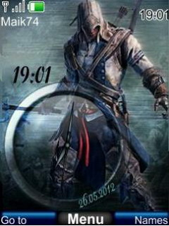 Assassin Creed 3 Clock Mobile Theme