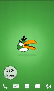 Angry Birds Green Android Theme Mobile Theme