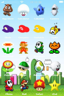 Perfect Super Mario Bros Apple IPhone Theme Mobile Theme