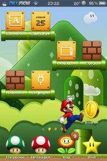 Super Mario Bros IPhone Theme Mobile Theme