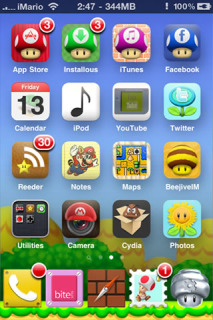 IMario Cool ICons IPhone Theme Mobile Theme