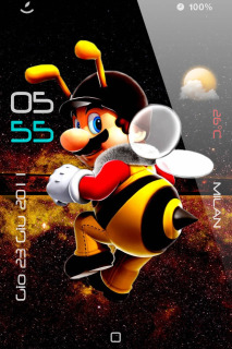 Mario Bee Apple IPhone Theme Mobile Theme